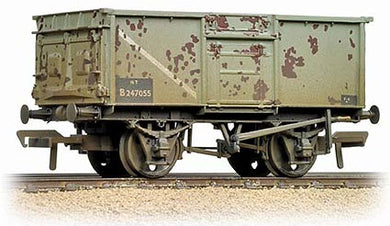 37-377F 16 Ton steel mineral wagon with pressed end doors, BR grey (weathered)