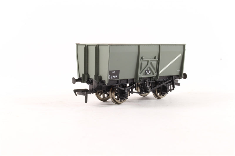 37-425ABACHMANN 6 Ton slope sided pressed side door mineral wagon in BR grey - Pre-owned - Like new