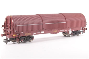 37-625 BACHMANN 102 Ton Thrall BYA steel strip carrier in EWS livery