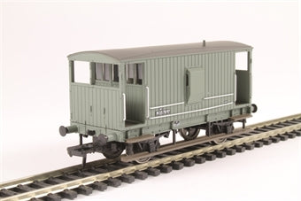 38-550A Midland 20T Brake Van BR Grey with Duckets