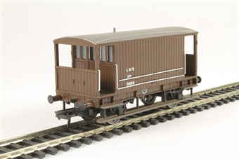 38-553A Midland 20T Brake Van LMS Bauxite without Duckets