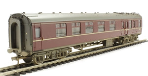 39-226E BR Mk 1 Brake/Corridor Composite Maroon (weathered)