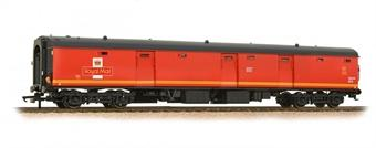 39-750 Bachmann Mk1 TPO POT stowage van 80424 in Travelling Post Office red with EWS branding