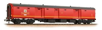 39-765 Bachmann Mk1 TPO POT stowage van in Royal Mail red with travelling post office branding