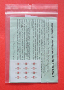 4094 Modelmaster 6 pairs of SMALL 1956 - 1968 loco crests