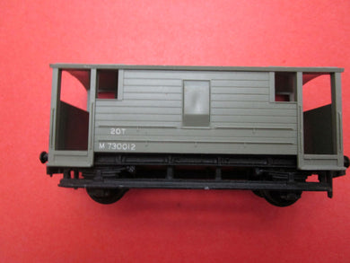 4310 Hornby Dublo ex LMS 20 Ton Guards Van BR grey M730012