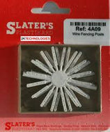 4A09 Slater's Concrete fence posts for wire, pack of 30