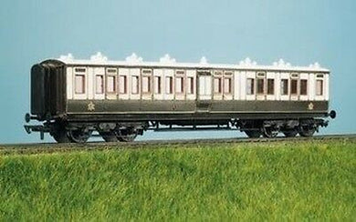 5730 RATIO LNWR Arc Roof corridor Bogie brake all 3rd, 7 compartment Coach kit