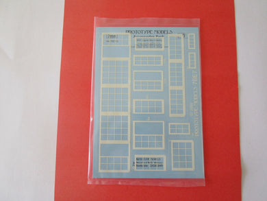 76E7G Protype Models LNER Signal Box glazing on clear acetate (0 gauge)