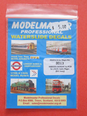 8013 Modelmaster Parkside Dundas kit PC50 ex LNER cattle wagon (BR livery)