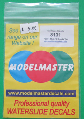 8131 Modelmaster Parkside Dundas kit PC38 Mink D Goods Van