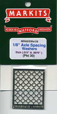 MRAXSWe1/8 Axle Spacing Washers Etched N/S 0.075