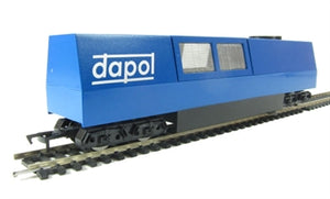 B800  Dapol Non-motorised OO Track Cleaner with motorised cleaning heads & vacuum in blue