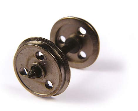 36-015 BACHMANN Metal 3-Hole Disc Wagon Wheels   (10 per pack)