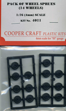 CC4011 Pack of Truck Wheel Sprues 14 Wheels