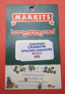 MCRNKPSW/M Spacing Washers for Crankpins Mixed .010in and .015in OD .125in ID .040in Pack of 40