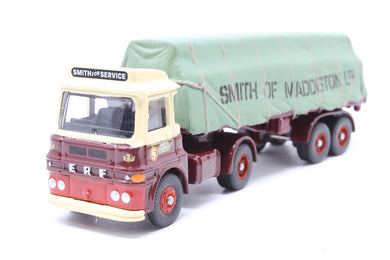 DG186000 Corgi (LLEDO) Trackside ERF LV sheeted platform trailer, Smith of Maddiston