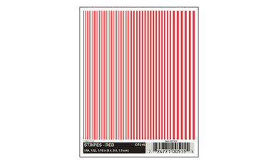 DT515 red stripes: 1/64, 1/32, 1/16 (Pack B) Woodland Scenics