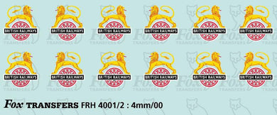 FRH4001 Fox BR early emblem (large & small)