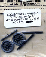 G4839 3ft 3 1/2in 10 Spoke Bogie/Tender OO EM