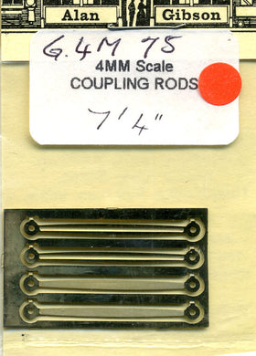 G4M75 Coupling Rods 7ft4inch fluted and plain