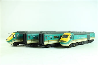 L149909 Lima Collection Class 43 HST 43043 & 43075 Leicestershire County Cricket Club in Midland Mainline teal livery 4 car train pack