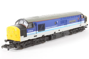 "L204817A5  Lima class 37/4 - 37414 ""Cathays C+W Works"" in Regional Railways livery"