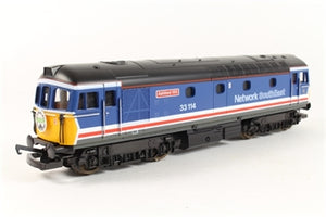 "L205185A4 Lima Class 33 33114 ""Ashford 150"" in Network SouthEast Revised livery"