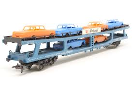 L305696 Lima Motorail Bogie Car Transporter, with cars