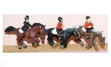 F183 Langley 3 Horses and 3 Riders WM
