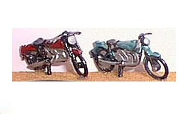 G12a Two parked motorcycles