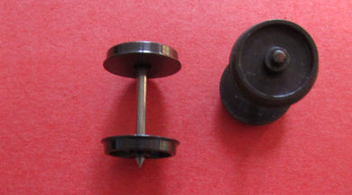 MRJ14Do/b-3 14mm Disc Wheels PP 25.4mm Axles Blackened (To fit Lima)