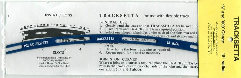 NT18 Tracksetta N (OO 9) 457mm 18