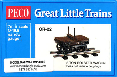 OR-22 PECO 0-16.5 2 Ton Bolster wagon kit