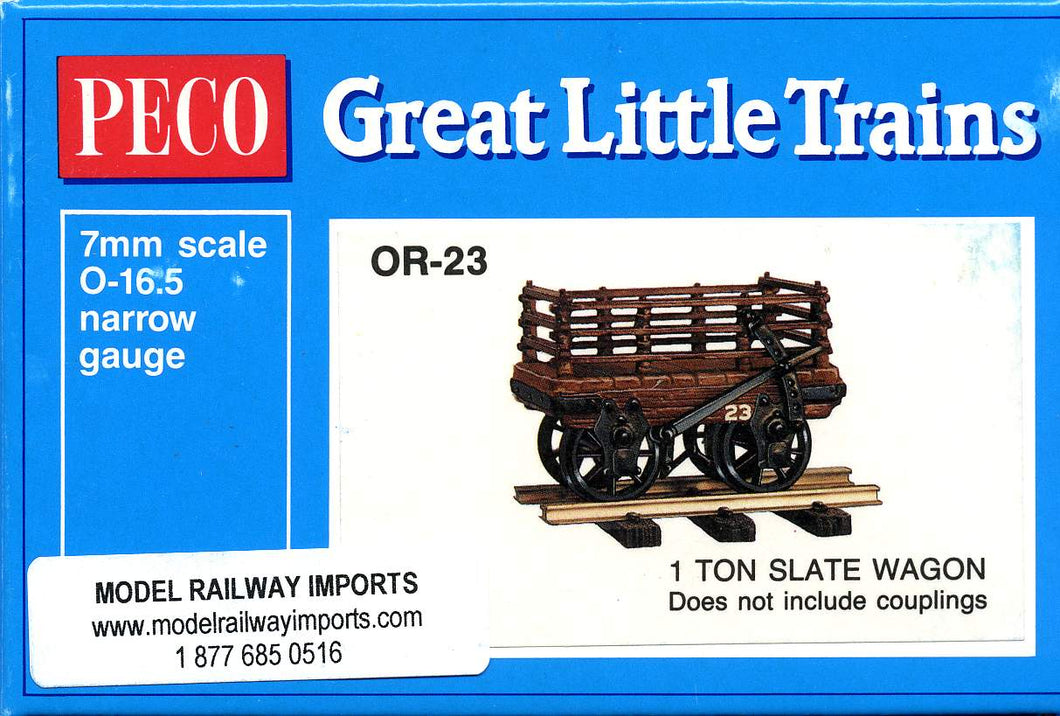 OR-23 PECO 0-16.5 1 Ton slate wagon