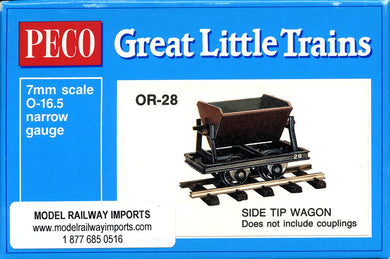 OR-28 PECO 0-16.5 Side tip wagon