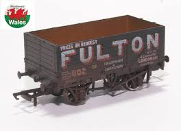 "76MW7018W 7 Plank ""Fulton Coal""Wagon (Weathered)"