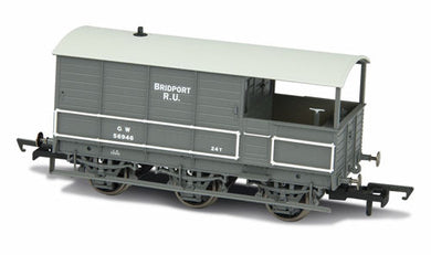 76TOA002 Toad Brake Van - GWR 6 Wheel Plated (Late) Bridport
