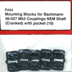 PA34 Coupling Mounting Blocks (10) for Bachmann 36 027 NEM
