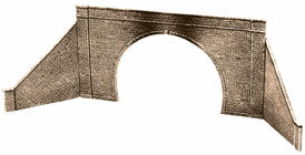 LK-32 Peco 00 Gauge 1 Double Tunnel Mouth and 2 walls (Stone type)