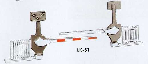LK-51 Peco 00 Gauge Level crossing barriers
