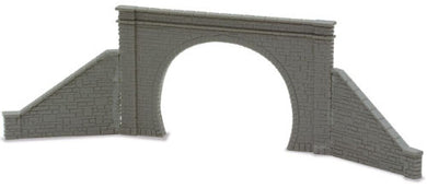 NB-32 Peco N Gauge Double track tunnel mouths with retailning walls