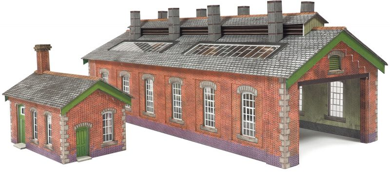 PN913 Double Track Engine Shed Brick