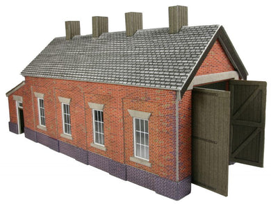 PO331 Brick Single Track Engine Shed Kit