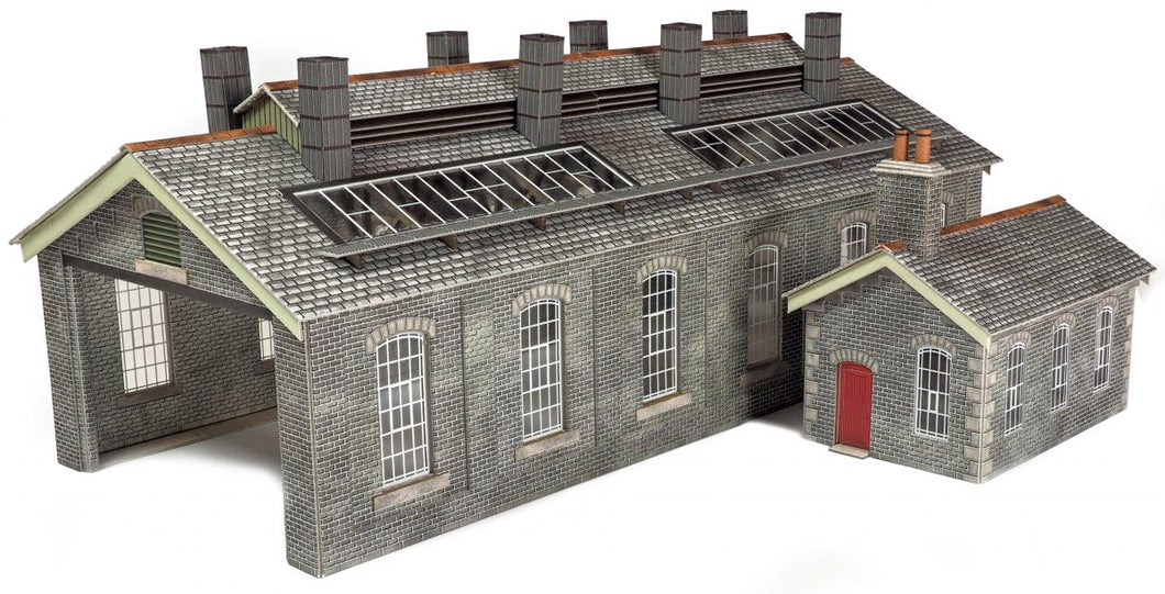 PO337 Settle & Carlisle 2 Road Stone Engine Shed