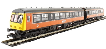R3047 Hornby Class 101 2 Car DMU in Strathclyde PTE orange livery DCC Ready. 8-pin socket
