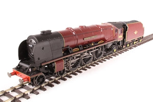 "R3555 Hornby Class 8P Princess Coronation 4-6-2 46256 ""Sir William Stanier F.R.S"" in BR maroon DCC Ready. 8-pin socket"