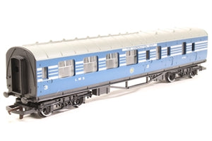 R423 HORNBY LMS Coronation Brake 3rd Coach, Blue/Silver livery
