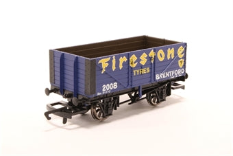 R6343A Hornby 7 plank wagon in Firestone livery