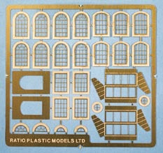 309 Industrial Windows   Etched Brass (N Gauge)